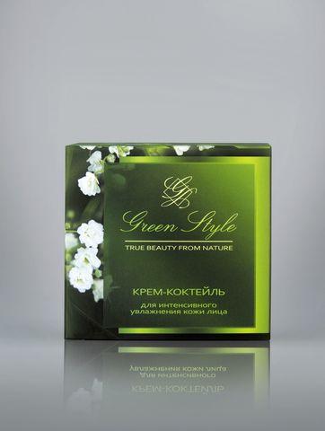 Liv delano Green Style Крем-коктейль для интенсивного увлажнения кожи лица (ночной) 45г