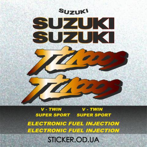 Набор виниловых наклеек на мотоцикл Suzuki TL1000S, 1997