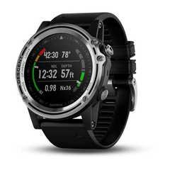Умные часы для дайвинга Garmin Descent MK1 серебристые с черным ремешком 010-01760-10