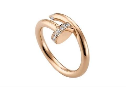 Кольцо Juste Un Clou Ring Rose Gold Diamonds