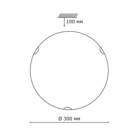 Светильник настенно-потолочный 108/K серии VUALE