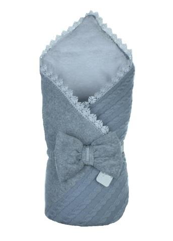 Конверт-одеяло Косичка комби серый