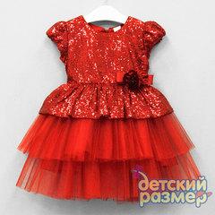 Платье 92-110 (пайетки, брошь)