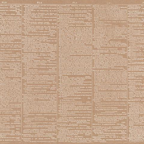 Крафтовый лист с дизайнерским рисунком 30 х30 см из коллекции DIY Shop American Crafts