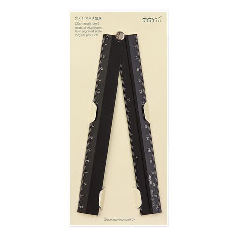 Линейка складная Midori Aluminum Multi Ruler 30 см (черная)