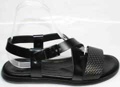 Лучшие мужские сандалии Roberto Verbano 74609 Black.