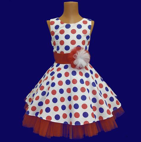 Платье стиляги из хлопка