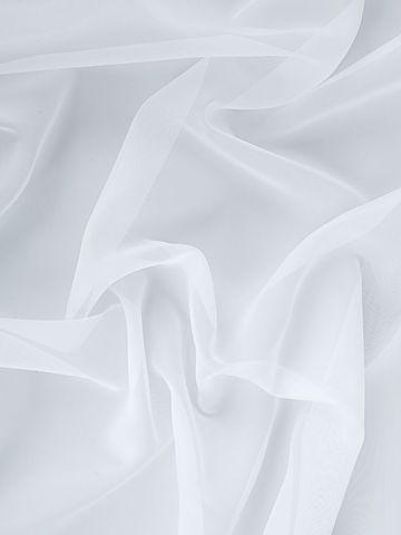 Штора готовая однотонная вуаль из ткани капрон | цвет: белый | размер на выбор