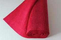 Бумага гофрированная простая красный (580), 50 см./250 см.