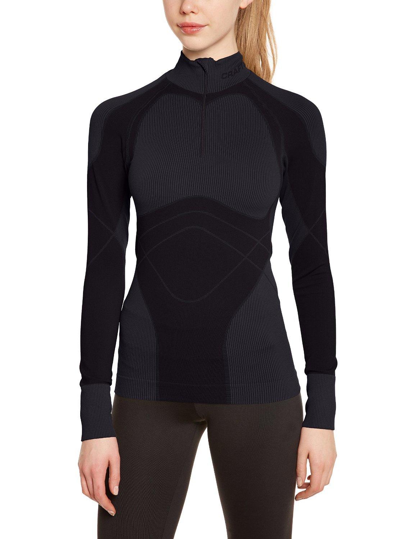Термобелье Рубашка Craft Warm Zip женская темно-серая (1901633-9980) фото