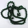 """Бусина стеклянная """"Крэкл"""", шарик, цвет - темный зеленый, 8 мм, нить"""
