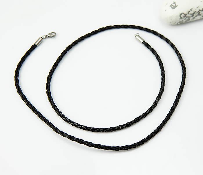 PL288-1 Черный шнур для кулона из искусственной кожи фото 02