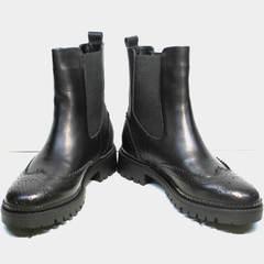 Ботинки челси женские Jina 7113 Leather Black