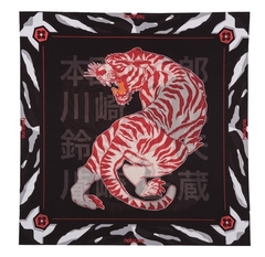 Foulard Tiger / Бело-красный