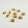 Пружинка для шнура 3,5 мм (цвет - золото) 9х5 мм, 10 штук