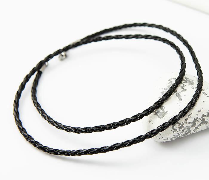 PL288-1 Черный шнур для кулона из искусственной кожи фото 04