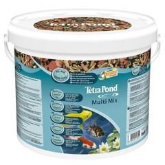 Tetra Pond Multi Mix полноценный корм для прудовых рыб гранулы, хлопья, таблетки 10л