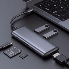 Адаптер USB-C to HDMI HAGiBiS Grey UC39-PDMI