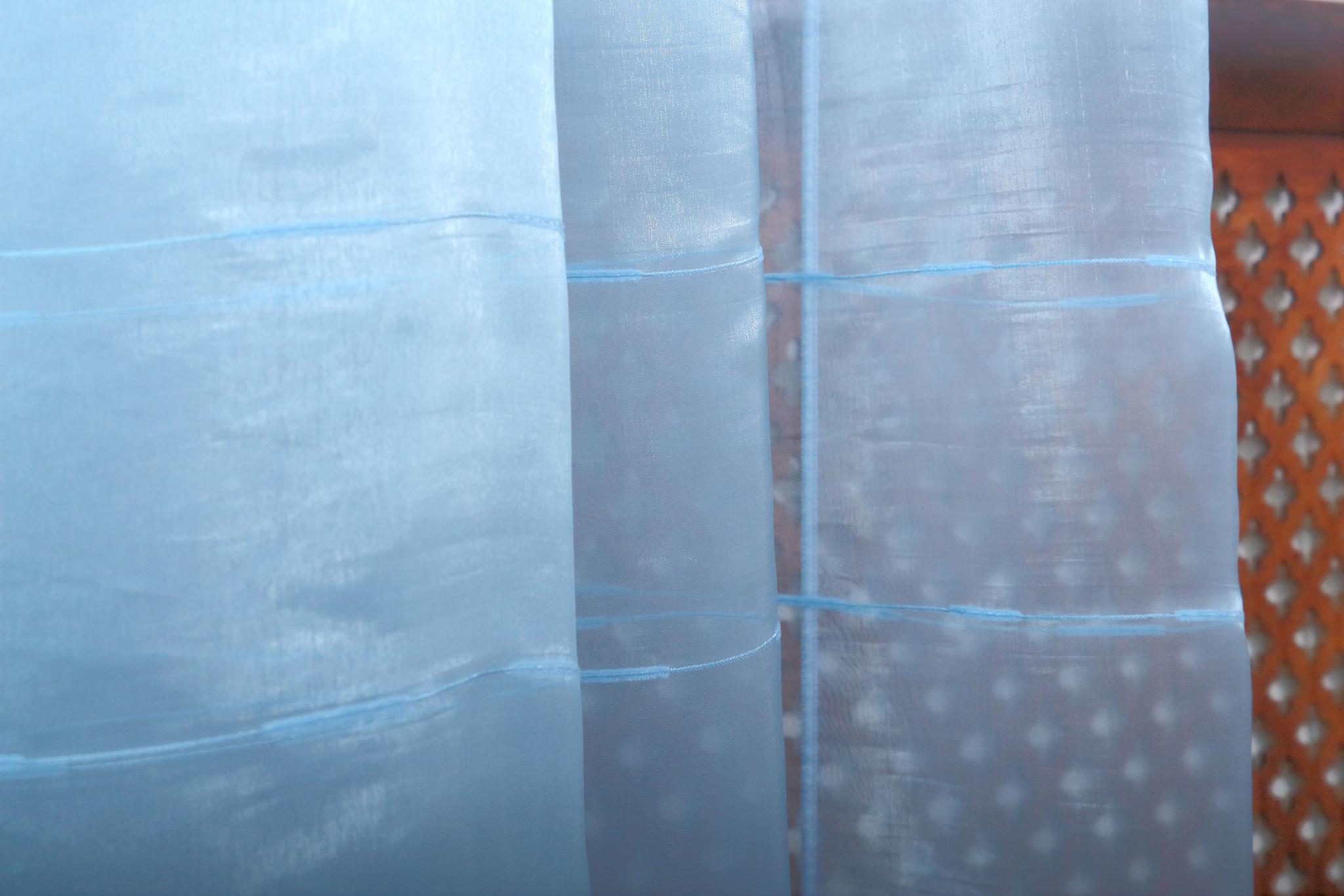 Тюль. Органза Жан-жан Т (голубой)