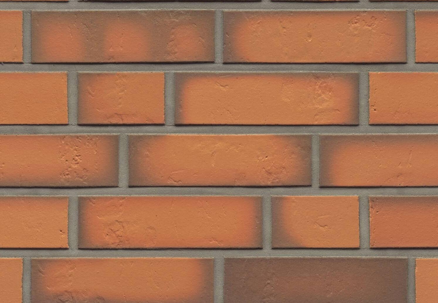 Облицовочная клинкерная плитка Feldhaus Klinker, Accudo, R718NF14, поверхность под шагрень, terracotta vivo