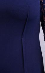 Ля Руж. Нарядное женское платье плюс сайз. Синий.