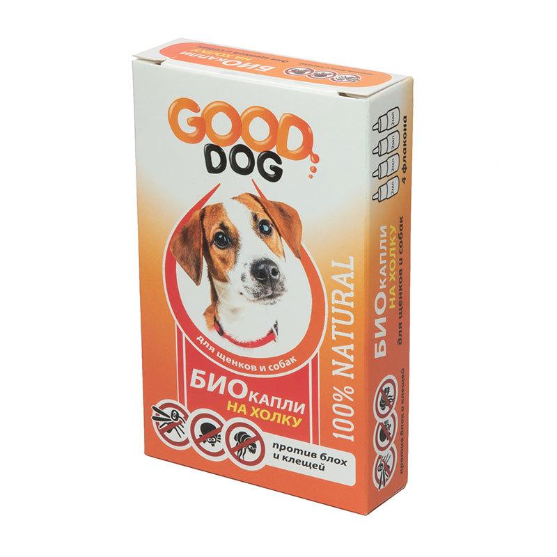 Новинки Антипаразитарные БИО капли для щенков и собак, Good Cat, от блох и клещей, 2 мл (уп. 4 шт) 14104.jpg
