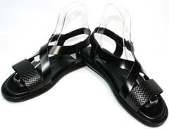 Мужские сандали с ортопедической стелькой Roberto Verbano 74609 Black.