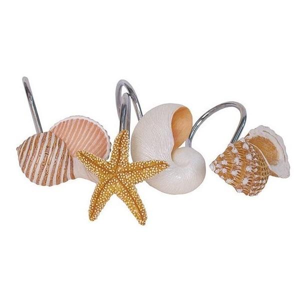 Крючки для ванной Набор из 12 крючков для шторки Blonder Home Sea Breeze nabor-iz-12-kryuchkov-dlya-shtorki-blonder-home-sea-breeze-ssha.jpg