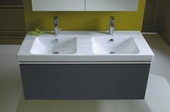Мебель для ванной комнаты Jacob Delafon Odeon Up с двойной раковиной 120см. цвет: серый