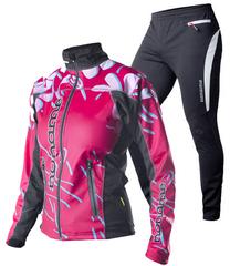 Элитный лыжный костюм Noname ClubLine Elite Pink женский
