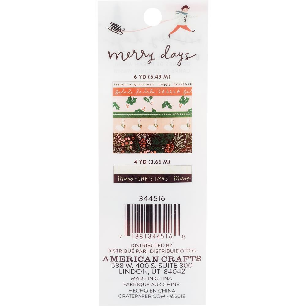 Набор скотчей Merry Days Washi Tape от Crate Paper