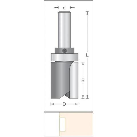 Фреза копировальная D28,6x38,1 L92 хвостовик 12 DIMAR 1072399
