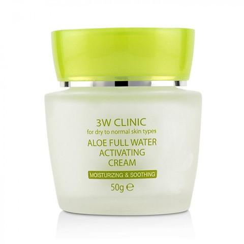 3W Clinic Крем для лица увлажняющий с экстрактом алоэ 50г