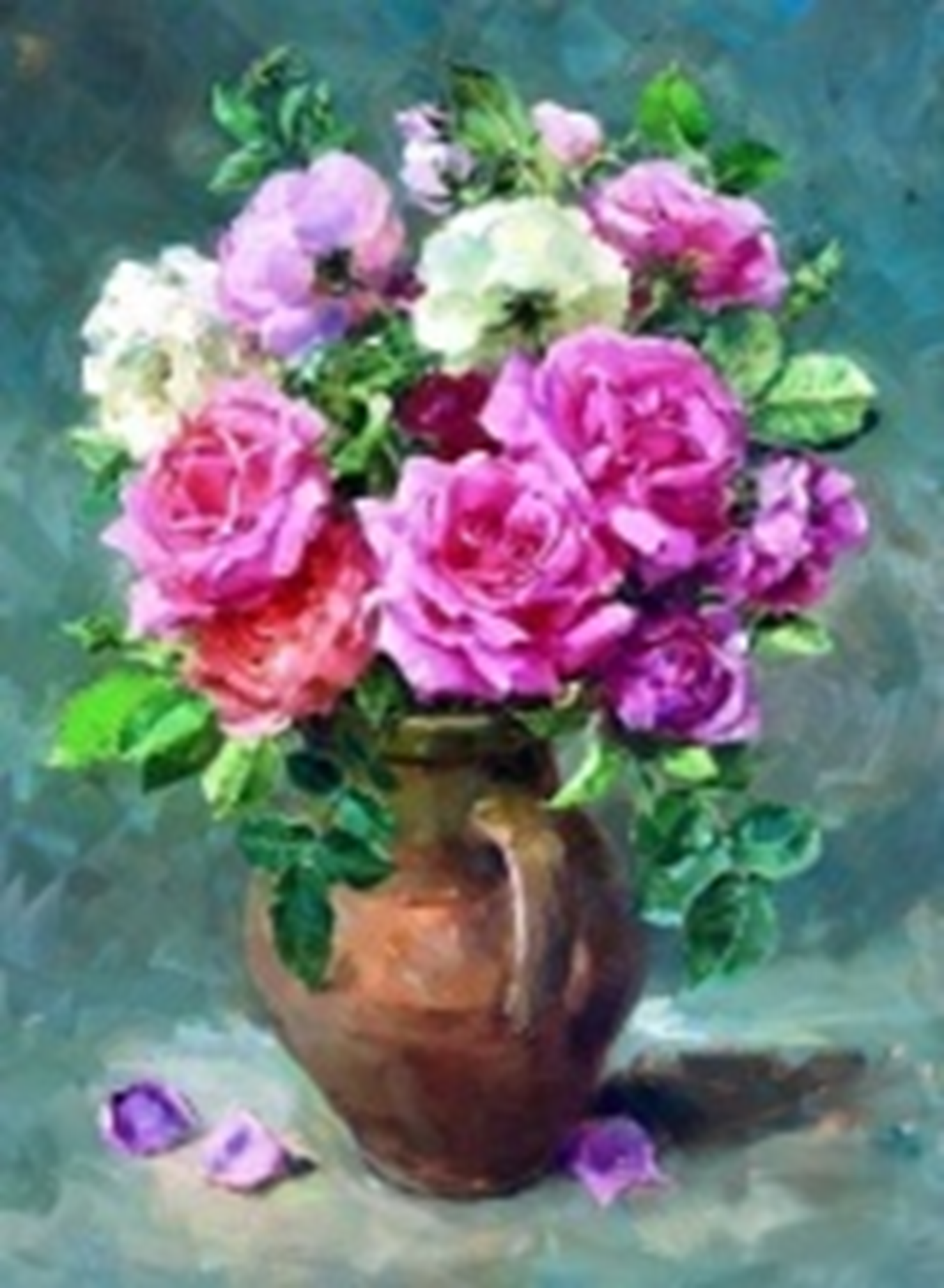 Картина раскраска по номерам 30x40 Цветы в вазе (арт ...