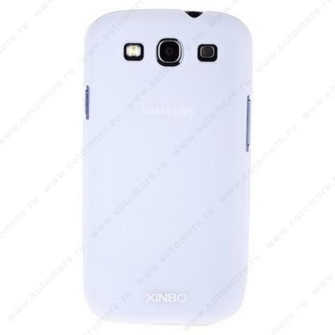 Накладка XINBO пластиковая для Samsung Galaxy S3 i9300 белая