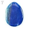 Подвеска Агат Крэкл (тониров), цвет - синий, 54-70 мм (№7 (58х42 мм))