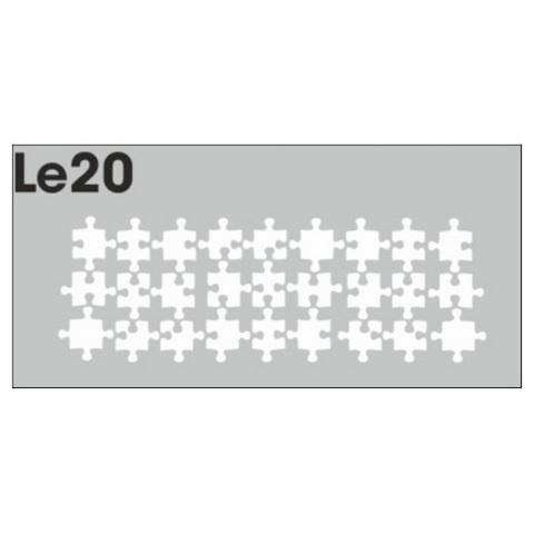 Трафарет для ногтей 3 шт. /1 уп. № LE20
