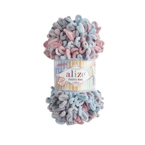 Купить Пряжа Ализе Пуффи Файн Колор Код цвета 6041 | Интернет-магазин пряжи «Пряха»