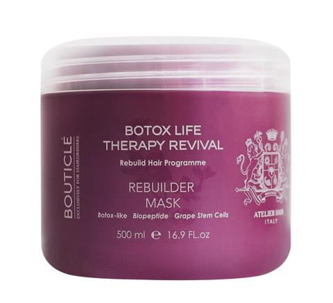 Ботокс восстанавливающая маска для химически поврежденных волос - Bouticle Rebuilder Mask 500 мл