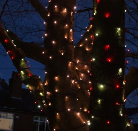 Светодиодная нить гирлянда LED уличная купить разноцветная