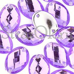 Купить пришивные стразы оптом акрил Oval Violet фиолетовые