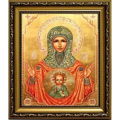 Знамение Серафимо-Понетаевская икона Божьей Матери на холсте.
