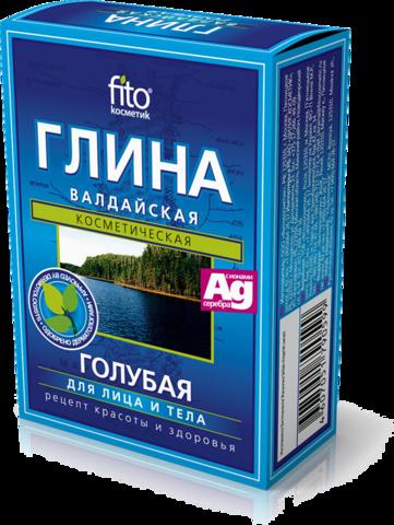Фитокосметик Глина сухая голубая Валдайская 100г