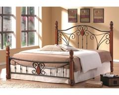 Кровать АТ-9003 200x160 (Queen) Черный/Красный дуб