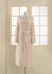 MELIS - МЕЛИС пудра-бежевый махровый  женский халат Soft Cotton (Турция)