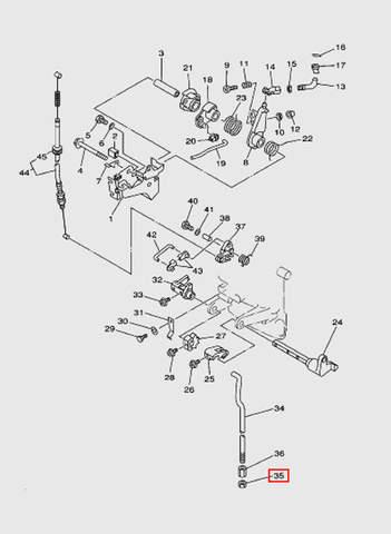 Гайка регулировочная латунная  для лодочного мотора T15, OTH 9,9 SEA-PRO (12-35)