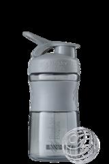 BlenderBottle SportMixer, Универсальная Спортивная бутылка-шейкер с венчиком.  Pebble-Grey-серый-графит 591 мл