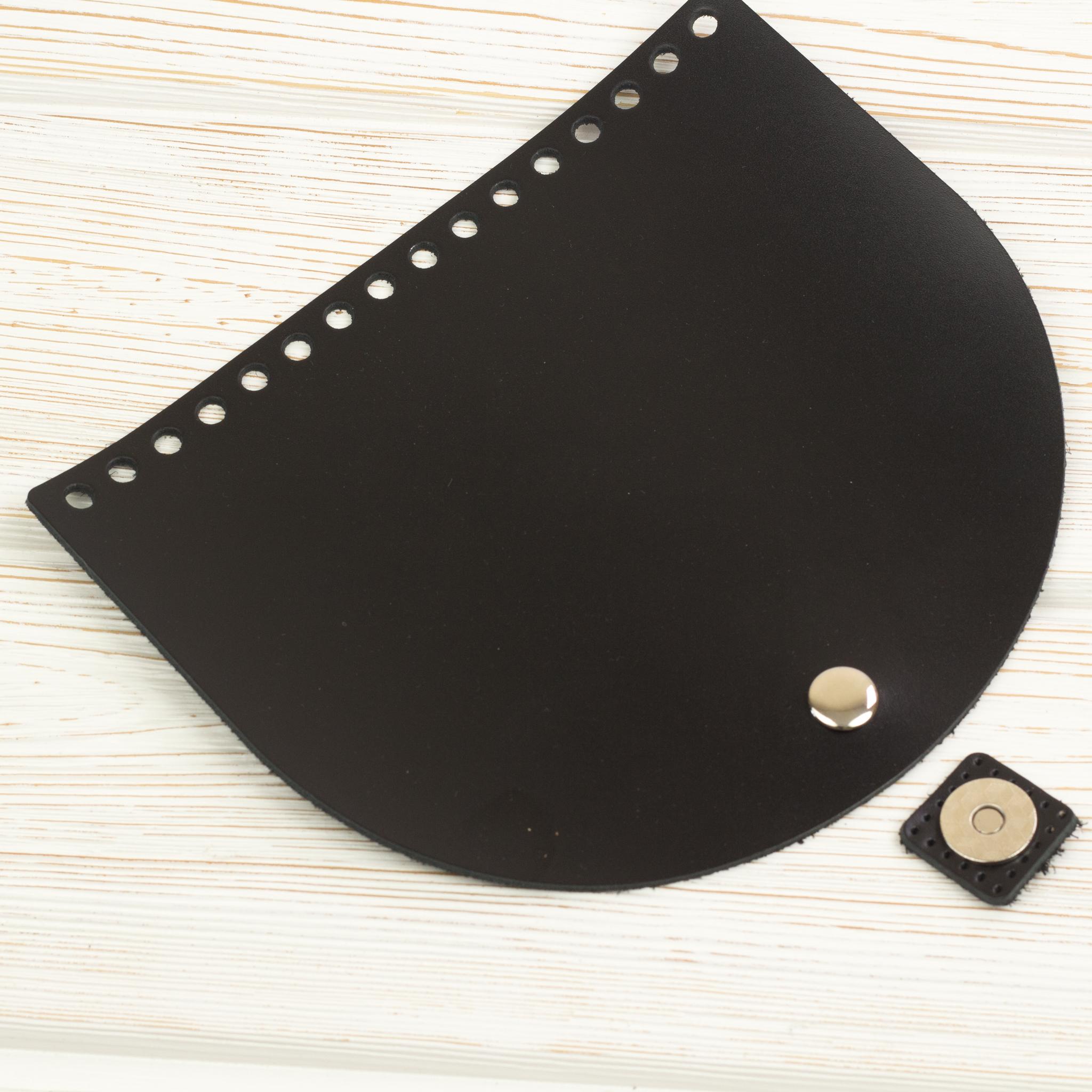 Клапаны для сумки Клапан для сумочки с магнитной застежкой кожаный черный IMG_3912.JPG