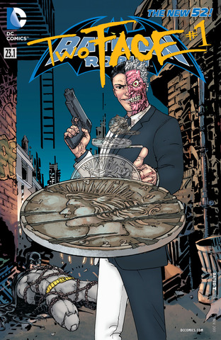 Batman and Robin #23.1: Two-Face Lenticular Cover
