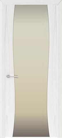 Дверь Океан Буревестник-2, стекло белое, цвет ясень белый жемчуг, остекленная